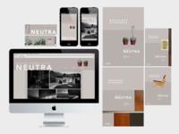 Neutra exhibit branding system
