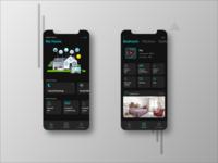 Dark Smart Home UI