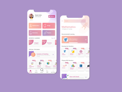 UI App Education Concept