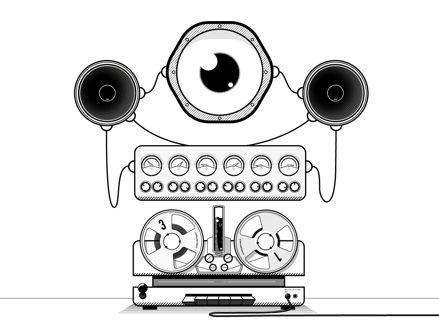 impossible music machines illustrator cc vector