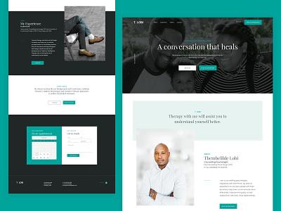 Counselling Psychologist UI psychology web design custom design uiux