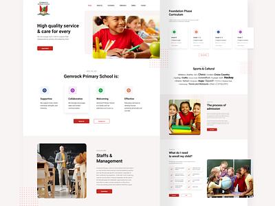 School Website custom design web design uiux ui