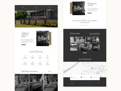 Guesthouse Web UI custom wordpress theme ui design web design uiux custom design
