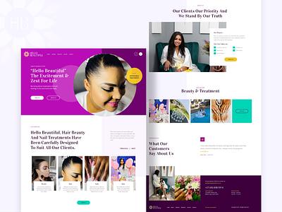 Beauty Spa UI custom design animation design ui web design uiux