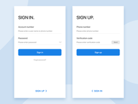 Login registration page