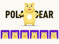 Polar bear expression pack