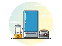 Icon Design for Electronics Appliances
