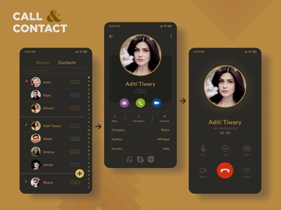 Contact & Call UI Design