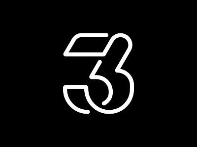 3 number branding lettering logotype monogram logoinspiration design logodesign symbol mark numerical three logo 3