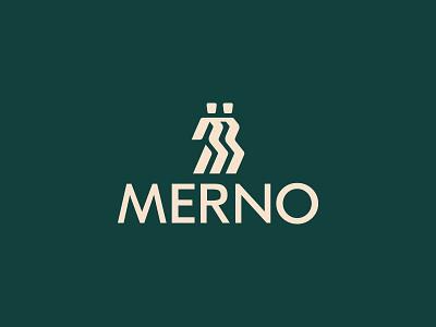 Merno Fashion House dancer human mark logotype lettermark graphic symbol branding miladrezaee logodesign logo design fashion