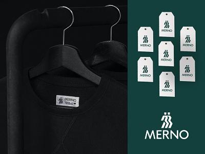 Merno Fashion House brandidentity lettering lettermark monogram symbol miladrezaee mark branding brand logodesign design clothes fashion logo