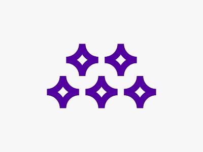 M & Stars mark symbol branding design logodesign logo code programing css framework developer magic logo mojo m