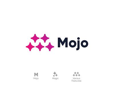 Mojo developer css framework lettermark lettering monogram design symbol branding logodesign magic mark logo mojo