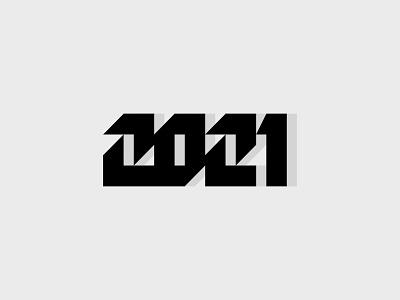2021 typedesign type logotype lettermark symbol logoinspiration logodesign miladrezaee mark design logo happynewyear newyear 2021