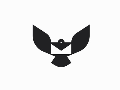 Messenger negativespace mail post mdc graphic symbol miladrezaee logodesign mark design logo fly bird dove pigeon messenger