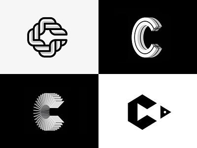 Cs lettering symbol 3d fish geometric minimal miladrezaee mdc logodesign design monogram lettermark logo c