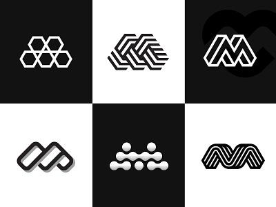 Ms geometic minimal logoinspiration mdc miladrezaee lettermark monogram symbol mark design logodesign logo m