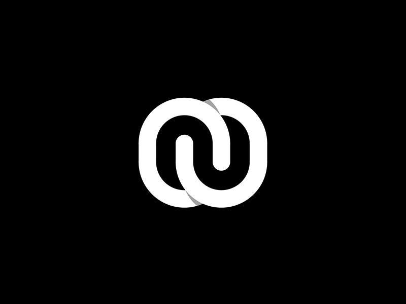 N lettermark line graphic branding logodesign monogram lettermark n