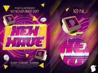 New Wave 3 Flyer Template