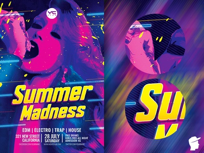 Summer Madness Flyer Template summer madness summer sounds sound session pink music melody madness festival edm dj