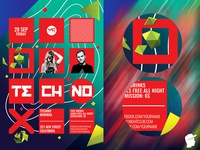 Techno 2018 Flyer Template