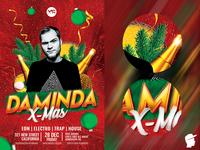 EDM X-Mas Dj Flyer 13 Template