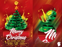 Merry Christmas 2019 Flyer Template