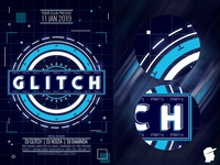 Glitch Party Flyer 2019 Template