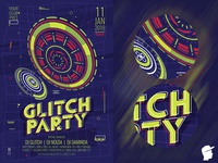 Glitch Party Flyer 2019 3 Template