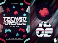 Techno Arcade New 2 Flyer Template