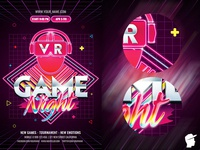 VR Game Night Flyer Template