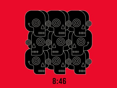 8:46 846 blacklivesmatter skulls geometric vector black red design illustration