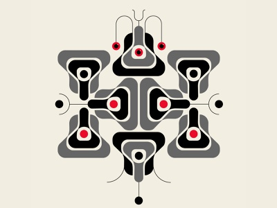 Squito opart insect mosquito patterns design black red abstract design vector geometric illustration