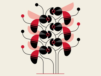 Fly Trap trufcreative insects black red patterns abstract design design geometric vector illustration