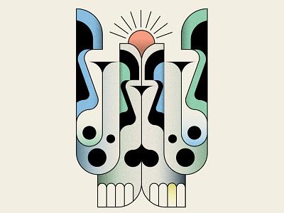 Skullduggery design pattern design vector tattoo skull abstract design geometric illustration