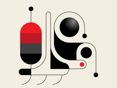 Rover Lunar design trufcreative vector abstract design geometric illustration red black