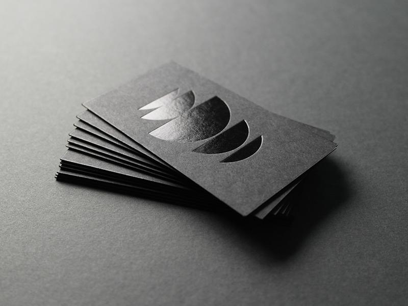 Truf demarest black foil cards dribbble