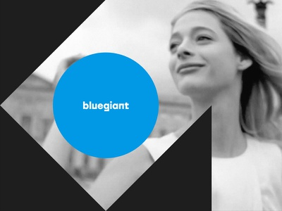 Bluegiant Motif image background cyan black circle triangle geometric identity