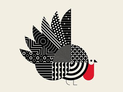 Psycho Turkey, qu'est-ce que c'est geometric turkey geometry patterns black red vector design illustration
