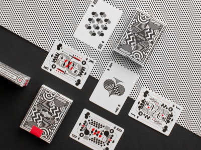 Messymod Playing Cards vector geometric black red packagingdesign packaging illustration design illustration art playingcards playing card