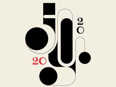Some Kind of Joy new year abstract design red black geometric 2020 typography art lettering typography illustration