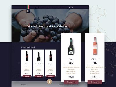 Rocchi website wine wordpress adobe web design web development ux design ui design