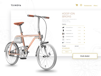 Tsinova bicycle illustartion website wordpress adobe web design web development ux ui