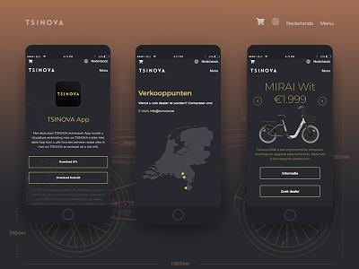 Tsinova web development web design responsive mobile wordpress website ux ui illustartion bicycle adobe