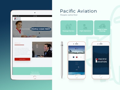 Pacific Aviation ux design ui developement design web aviation illustrator adobe photoshop