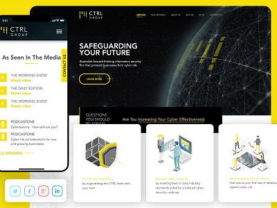 CTRL Group hack cyber protect illustration ux design illustartion design ui ux website web development web design adobe