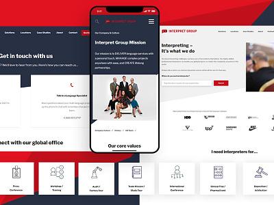 InterpretGroup deliver service management press bussines design ux website web development web design ui adobe