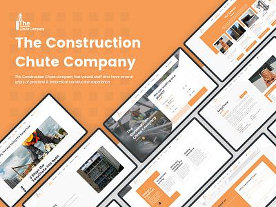 The Construction Chute Company shop construction company ux design design ux website web development web design ui adobe