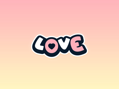 L❤️ve fullcolor graphic design logo sticker design