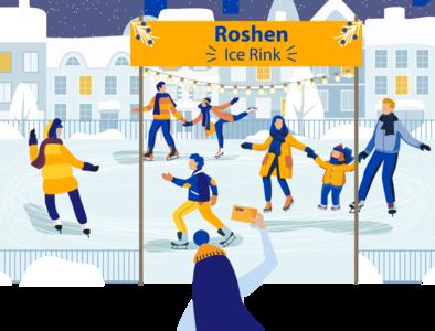 Ice Rink Roshen and Visa